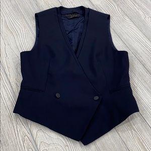 rag & bone Navy Sleeveless Wool Vest Blazer - sz 6